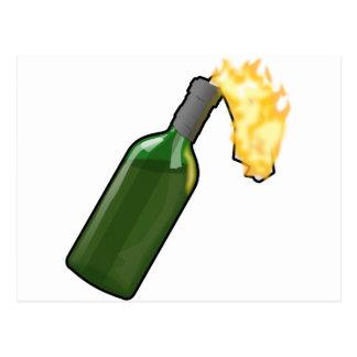 Molotov Cocktail Postcard