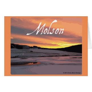 Molson Lake Sunrise Card