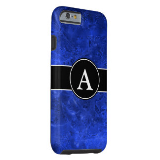 Molten Blue With Initial Tough iPhone 6 Case