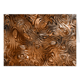 """Molten """"Copper"""" print greetings card"""