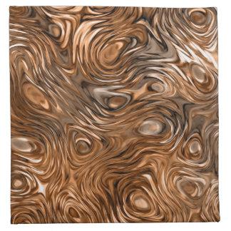 """Molten """"Copper"""" print napkin set"""