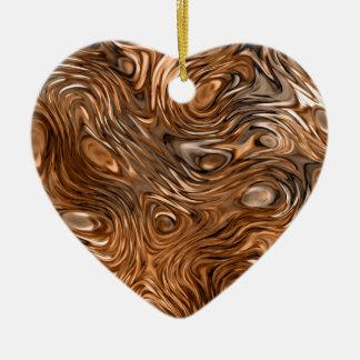 """Molten """"Copper"""" print ornament heart"""