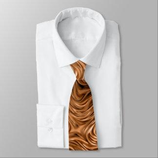 """Molten """"Copper"""" print tie"""