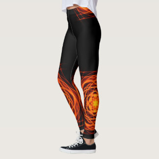 MOLTEN CORE MANDALA Leggings