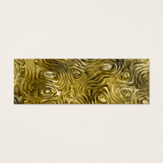 "Molten ""Gold"" print business card skinny black"