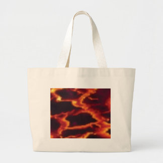 molten lava flow large tote bag