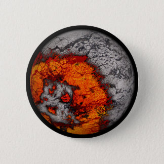 Molten Moon...Button 6 Cm Round Badge