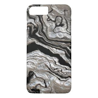 Molten Silver Black Marble Pattern iPhone 8 Plus/7 Plus Case