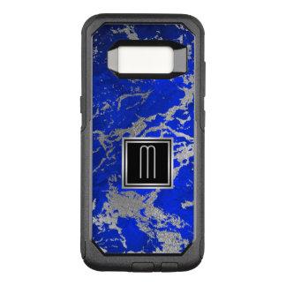 Molten Silver on Blue Monogram OtterBox Commuter Samsung Galaxy S8 Case