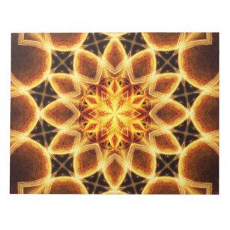 Molten Star Mandala Notepad