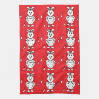 Molting Missy Chicken Dishtowels Kitchen Towel
