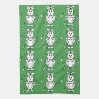 Molting Missy Chicken Dishtowels Tea Towel