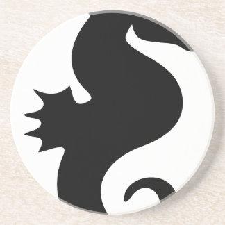 molumen_seahorse_silhouette drink coaster