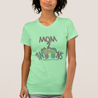 Mom 2 Twins Boy and Girl Shirts