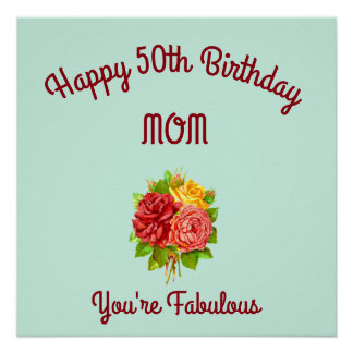 Mom 50th Birthday Poster