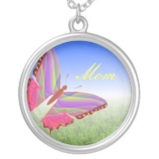Mom Abstract Butterfly Necklace