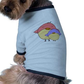 Mom and baby bird ringer dog shirt