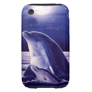 Mom and Baby Dolphin Case iPhone 3 Tough Cover