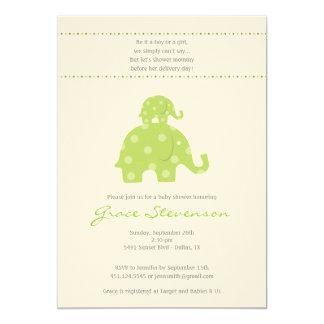 Mom and Baby Elephant Baby Shower Invitation