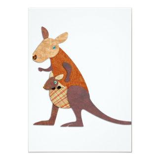 Mom and Baby Kangaroo Personalized Invite