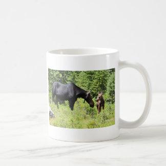 Mom and Calf Moose Mug
