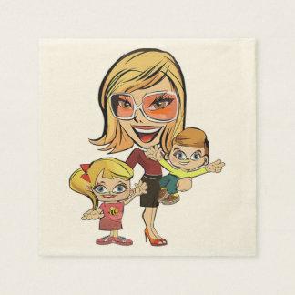 MOM AND KIDS PAPER NAPKIN