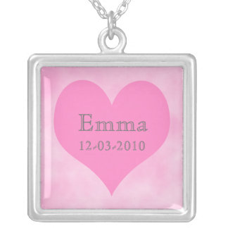 Mom Baby Name Charm Necklace -- Baby Girl