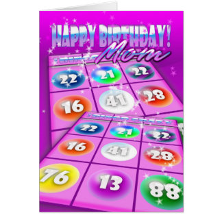 Mom Bingo Crazy Birthday Card