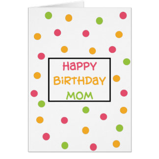 Mom Birthday Greeting Cards Dotty Design