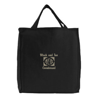MOM, Black and Tan, Coonhound Embroidered Bags