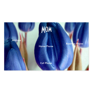 Mom Blue Tulips Business Card Template
