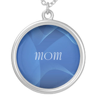 MOM Blue Waves Abstract Necklace