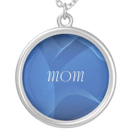 MOM, Blue Waves Abstract Necklace