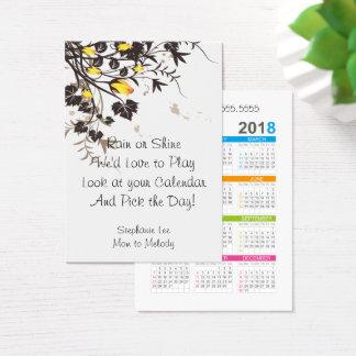 Mom Calling Card Roses 2018 Calendar Template