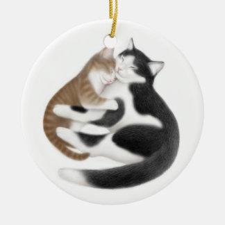 Mom Cat & Her Kitten Ornament