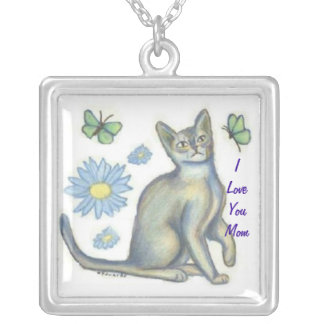 Mom Cat Lover Necklace, Mom Jewelry