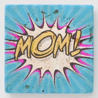 Mom! Comic Book, Pop Art Poster Stone Beverage Coaster
