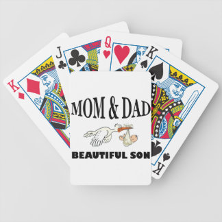 Mom Dad and beautiful son Bicycle Playing Cards