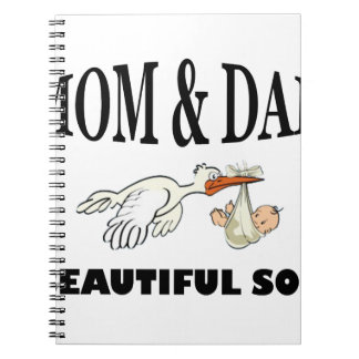 Mom Dad and beautiful son Notebooks