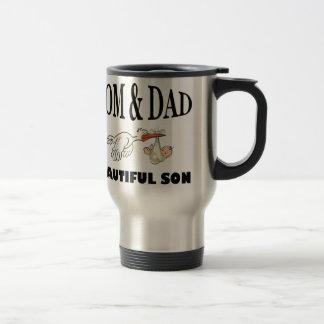 Mom Dad and beautiful son Travel Mug