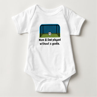 Mom & Dad played without a goalie - baby soccer Baby Bodysuit