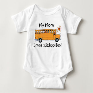 Mom Drives a School Bus Baby Bodysuit