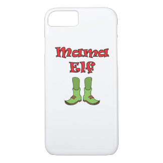 Mom Elf Matching Couple Christmas iPhone 8/7 Case