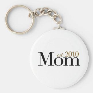 Mom Est 2010 Keychains