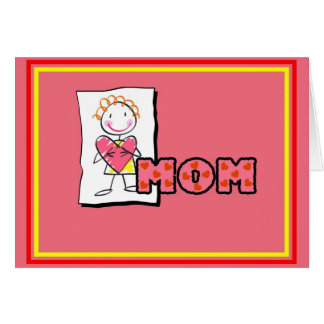 Mom From Daughter Valentine's Day Heart Card