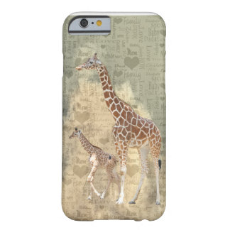 Mom Giraffe and Baby Family iPhone 6 case Barely There iPhone 6 Case