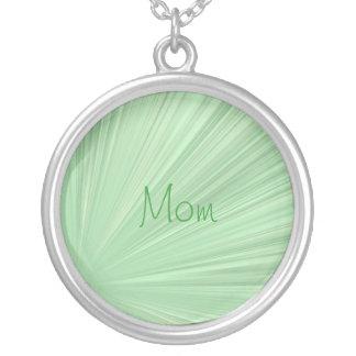 mom, Green Swirl Star Ray Necklace