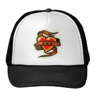 mom hart tattoo cap
