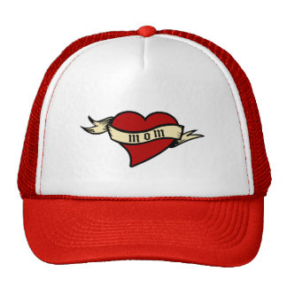 Mom Heart Hat Mother's Day