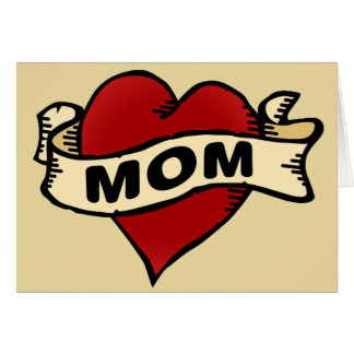 Mom Heart Tattoo Greeting Card